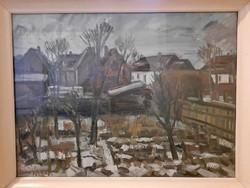 Somogyi Imre - Tatai kertek -olaj, vászon 60x80