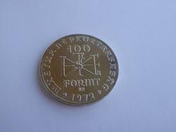1000 éve született Szent István ezüst 100 Ft-os emlékérme, 1972