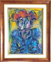 Tóth Ernő - Don Quijote 40 x 30 cm olaj, farost, keretezve
