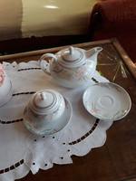 Alföldi porceán tea kiöntő, cukortartó