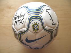 Aranycsapat dedikált Nike brazil labda Buzánszky, Sándor Csikar, Bognár Gy., Kovács k. futball