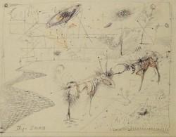 Dienes Gábor - 23 x 29 cm toll, papír 2000, keretezve