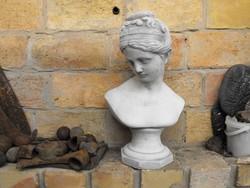 Kerti Női kő szobor 45cm Fagyálló Műkő nehéz tömör mellszobor