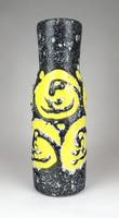 1D269 Retro formatervezett iparművészeti sárga szürke kerámia váza 27 cm