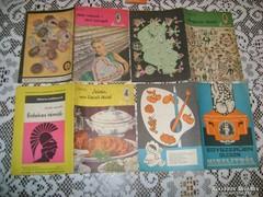 Régi szakács könyv, füzet 1967/68/70... négy darab