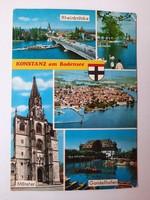 Retro levelezőlap, képeslap, Konstanz, 1982