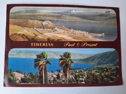 Retro levelezőlap, képeslap, Tiberias, 1986