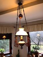 Antik lüszter lámpa, csillár, mennyezeti függeszték, elektromos
