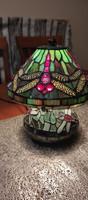 Szitakötős Tiffany ólomüveg lámpa