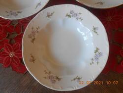 Zsolnay barackvirág mintás mély tányér