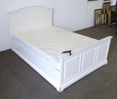 1D141 Elegáns fehér IKEA Birkeland egészségügyi elektromos franciaágy 200 x 160 cm