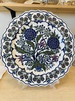 Zsolnay antik cakkos szélű perzsa tányér 1878 ból