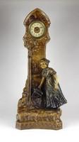 1B414 Hatalmas antik osztrák Johann Maresch - Aug Otto terrakotta szobor óra 54.5 cm