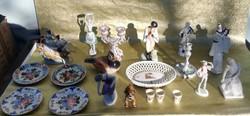 1ft.os aukció. Porcelán csomag. Zsolnay, Herendi, Német,Kispest, Miskolc.