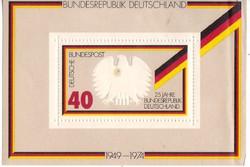 Németország emlékbélyeg blokk 1974