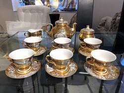 Szász Endre - aranyozott különleges teáskészlet  -M329