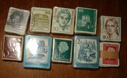 10 bündli egyben 1000 darab bélyeg kötegek külföldi hollandia német osztrák KIÁRUSÍTÁS 1 forintról