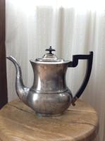 Antik ezüstözött nagy méretű angol teás kanna