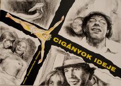 Kusturica: Cigányok ideje - plakátterv, egyedi grafika