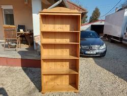 Eladó egy fenyő   könyves polc. Bútor szép állapotú. Méretei: 88 cm x 30 cm x 190 cm magas