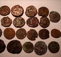 20 db római bronz lot