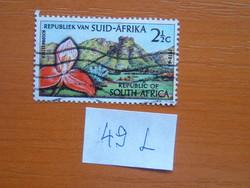 DÉL-AFRIKA  2-1/2 C 1963 A kirstenboschi botanikus kert 50. évfordulója, Fokváros 49L