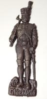 I.vh.-s antik öntöttvas propaganda dísztárgy / bányász-katona