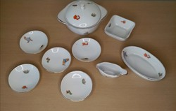 Hollóházi játék porcelán étkészlet