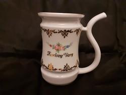 Hibátlan Cseh porcelán emlékbögre, kúrapohár