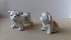 Régi porcelán angol bulldog kölyök kutyák