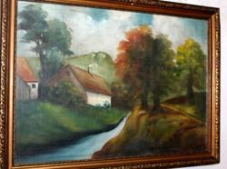 Antik szignált festmény 430