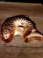 Vörösréz hal sütőforma, kuglófforma