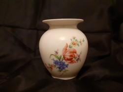 Csodálatos KUNST porcelán váza, Meisseni mintával, jelzett, hibátlan