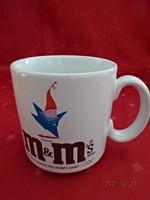 Angol porcelán pohár, m & m ,s felirattal, 1992-es olimpiai játékokra készült.