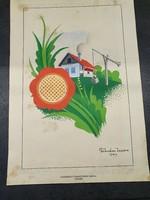 Horthy korabeli plakát terv szignózva 1937