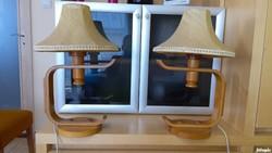 2 db asztali lámpa éjjeliszekrényre régi retró antik art deco