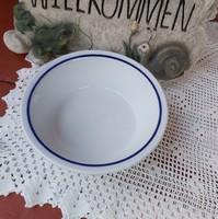 Alföldi kékcsíkos  kék peremes gulyásos tányér mélytányér , nosztalgia darab