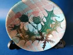 Bogáncs mintás skót kerámia tálka
