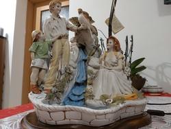 Hatalmas olasz mestermű kompozíció vízeséssel és lámpával eladó!