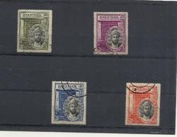 Zanzibár szép pecsételt bélyeg sor egzozikus