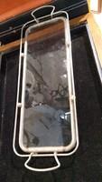 Üveg asztalközép, kínáló, 38 x 13 cm-es, hibátlan.lakberhez