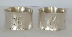 Ezüst szalvétagyűrű párban art-deco