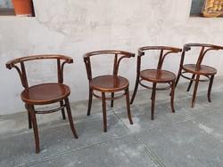 Gyönyörű Eredeti Antik Thonet Karfás székek.4db