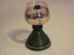 Antik üveg kehely pohár