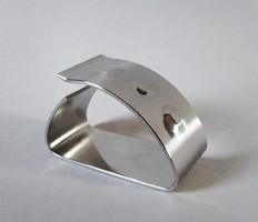 Ritka Zepter design acél szalvétagyűrű, 2000-es évek