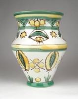 1D327 Jelzett iparművészeti Gorka Géza kerámia váza 15.5 cm