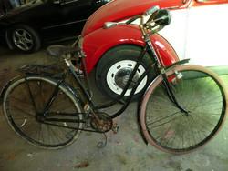 Gyűjtők! Veterán Puch női kerékpár az 1950-es évekből, működő állapotban, Bosch lámpával