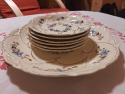 Zsolnay süteményes készlet  - 7 részes