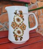 Gyönyörű Alföldi porcelán virágos Icu mintás kancsó, nosztalgia darab, Gyűjtői szépség