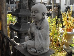 Buddhizmus  40cm Kő Indiai Meditáló  Buddha Buddhista Feng shui Japán kerti Fagyálló műkő szobor